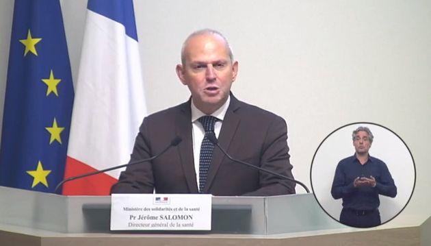 """""""Le virus continue sa progression"""", a souligné Jérôme Salomon en annonçant le chiffre global de 10 328 décès au mardi 7 avril"""