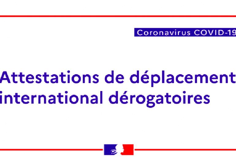 Rentrer en France ? Téléchargez votre attestation de déplacement international