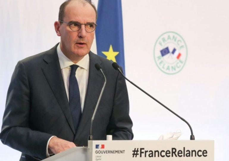 « La France a tenu, mais elle est affaiblie », a reconnu le premier ministre, avant d'appeler une nouvelle fois au respect des gestes barrière contre le coronavirus. - Jean Castex - Premier ministre lors de la présentation du plan France Relance